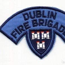 Militaria: DUBLIN FIRE BRIGADE - IRLANDA - PARCHE BOMBERO. Lote 180020851