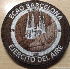 Militaria: PARCHE DE LA ESCUADRILLA DE CIRCULACIÓN AÉREA OPERATIVA DE BARCELONA EJÉRCITO DEL AIRE. Lote 180407952