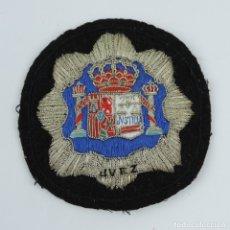 Militaria: PARCHE DE TELA CON EMBLEMA DE JUEZ, BORDADO DE LUJO PARA TOGA, MIDE 10,5 CMS.. Lote 180437632