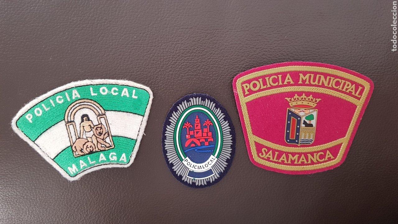 Militaria: LOTE DE PARCHES DE PECHO Y GORRA POLICIA LOCAL EN EXCELENTE ESTADO ( SE PUEDEN VENDER SEPARADOS) - Foto 2 - 182016220