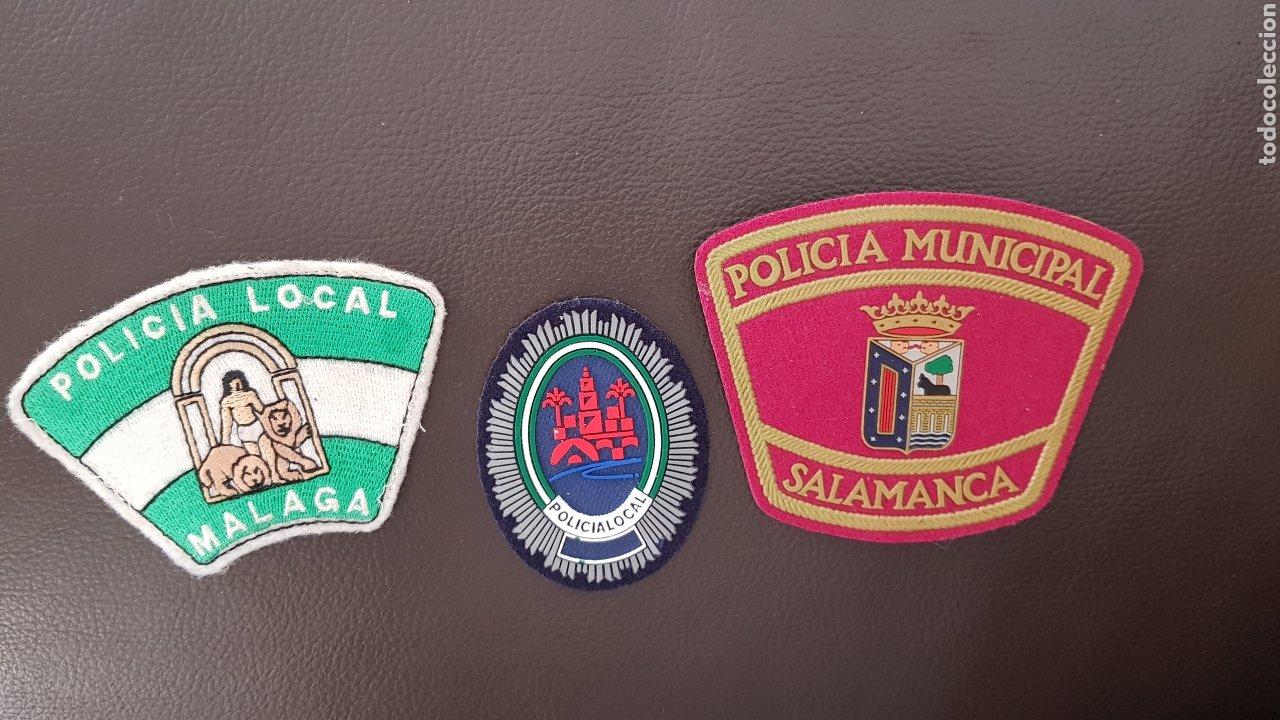 LOTE DE PARCHES DE PECHO Y GORRA POLICIA LOCAL EN EXCELENTE ESTADO ( SE PUEDEN VENDER SEPARADOS) (Militar - Parches de tela )