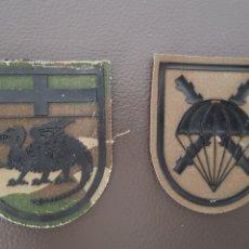 Militaria: LOTE DE 2 PARCHES MILITARES BRIGADA PARACAIDISTA. Lote 182019087