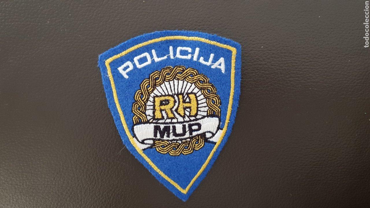 PARCHE GUERRA DE LOS BALCANES POLICIJA RH MUP CROACIA INSIGNIA DE TELA RARO (Militar - Parches de tela )