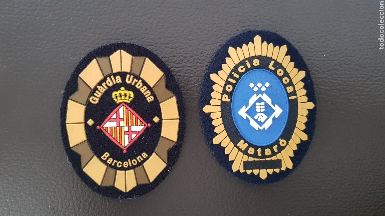 Militaria: LOTE DE PARCHES DE GORRA POLICIA LOCAL GUARDIA URBANA MATARO Y BARCELONA ( SE PUEDEN VENDER SEPARAD - Foto 2 - 182020527