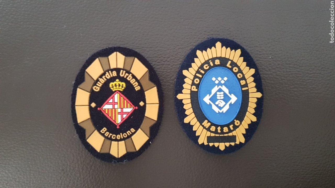 LOTE DE PARCHES DE GORRA POLICIA LOCAL GUARDIA URBANA MATARO Y BARCELONA ( SE PUEDEN VENDER SEPARAD (Militar - Parches de tela )