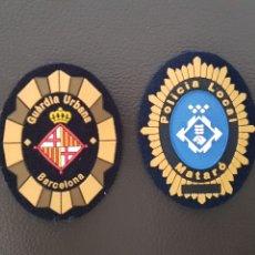 Militaria: LOTE DE PARCHES DE GORRA POLICIA LOCAL GUARDIA URBANA MATARO Y BARCELONA ( SE PUEDEN VENDER SEPARAD. Lote 182020527