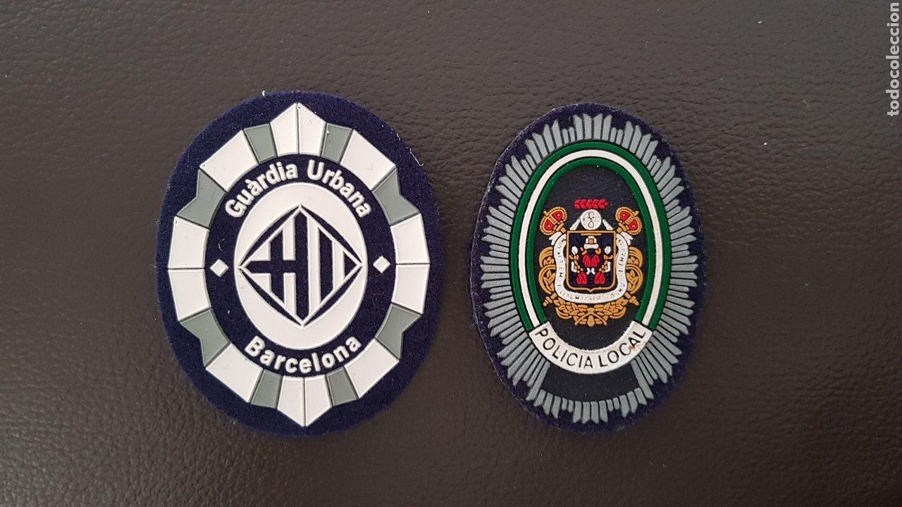 LOTE DE PARCHES DE GORRA GUARDIA URBANA POLICÍA LOCAL ( SE PUEDEN VENDER SEPARADOS) (Militar - Parches de tela )