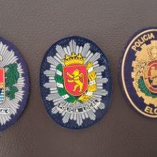 Militaria: LOTE DE PARCHES DE GORRA DE LA POLICIA LOCAL ( SE PUEDEN VENDER SEPARADOS). Lote 182023436