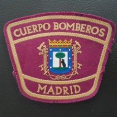 Militaria: ANTIGUO PARCHE CUERPO DE BOMBEROS MADRID EXCELENTE ESTADO. Lote 182060226