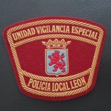 Militaria: PARCHE UNIDAD DE VIGILANCIA ESPECIAL POLICIA LOCAL LEON EN EXCELENTE ESTADO. Lote 182060372