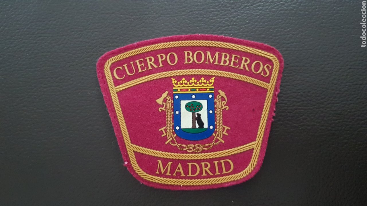 PARCHE CUERPO DE BOMBEROS COMUNIDAD DE MADRID EXCELENTE ESTADO (Militar - Parches de tela )