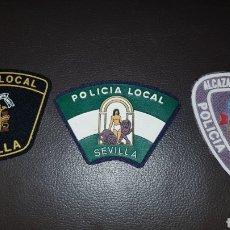 Militaria: LOTE DE PARCHES DE PECHO POLICÍA LOCAL. Lote 182077661