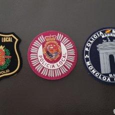 Militaria: LOTE DE PARCHES DE PECHO / GORRA POLICÍA LOCAL EXCELENTE ESTADO ( SE PUEDEN VENDER SEPARADOS). Lote 182078437