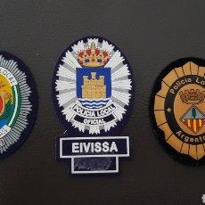 Militaria: LOTES DE PARCHES DE PECHO / GORRA DE LA POLICÍA LOCAL EXCELENTE ESTADO ( SE PUEDEN VENDER SEPARADOS). Lote 182079020