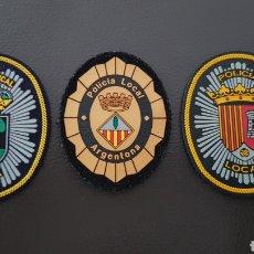 Militaria: LOTE DE PARCHES DE PECHO O GORRA DE LA POLICÍA LOCAL EXCELENTE ESTADO ( SE PUEDEN VENDER SEPARADOS). Lote 182079158