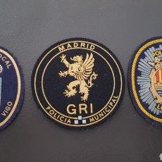 Militaria: LOTE DE PARCHES DE PECHO O GORRA POLICÍA LOCAL EXCELENTE ESTADO ( SE PUEDEN VENDER SEPARADOS). Lote 182079498
