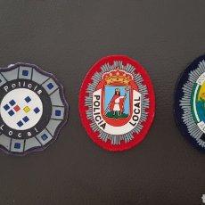 Militaria: LOTES DE PARCHES DE PECHO / GORRA DE POLICÍA LOCAL EN MUY BUEN ESTADO ( SE PUEDEN VENDER SEPARADOS). Lote 182079631