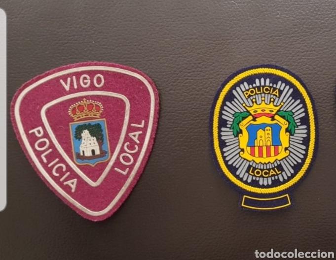 LOTE DE PARCHES DE PECHO / GORRA DE LA POLICÍA LOCAL ( SE PUEDEN VENDER SEPARADOS) (Militar - Parches de tela )