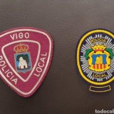 Militaria: LOTE DE PARCHES DE PECHO / GORRA DE LA POLICÍA LOCAL ( SE PUEDEN VENDER SEPARADOS). Lote 182063205