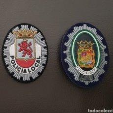 Militaria: LOTE DE PARCHE DE PECHO GORRA DE POLICÍA LOCAL EN EXCELENTE ESTADO ( SE PUEDEN VENDER SEPARADOS). Lote 182083571
