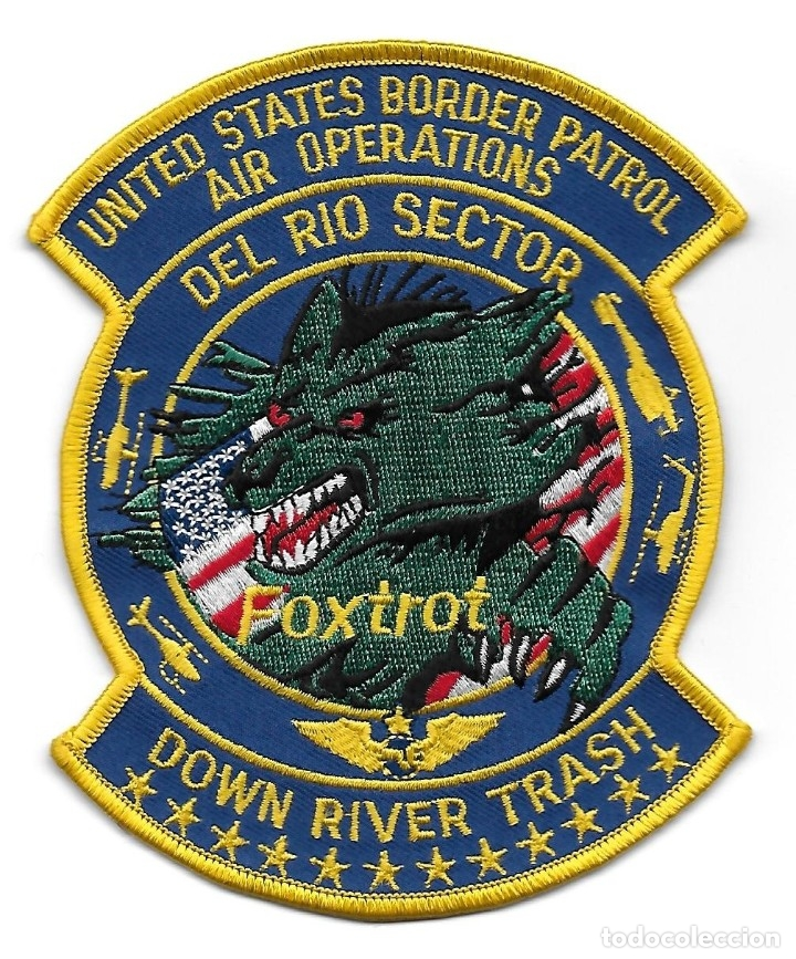 PARCHE POLICIA USA HELICOPTEROS DEL RIO SECTOR BORDER PATROL (Militar - Parches de tela )