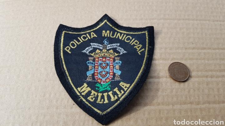 PARCHE EMBLEMA ESCUDO ANTIGUO POLICÍA MUNICIPAL MELILLA (Militar - Parches de tela )