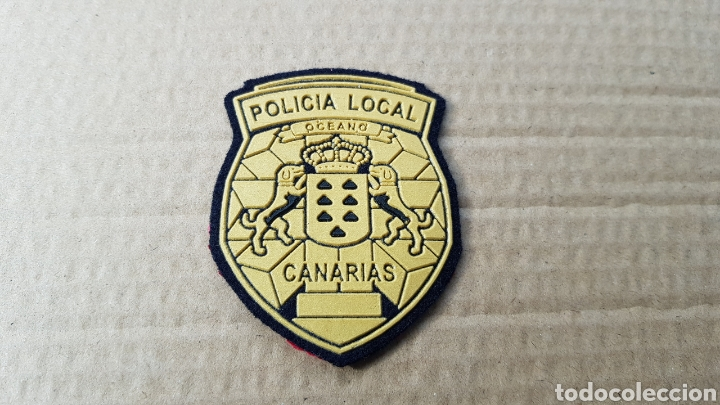 PARCHE EMBLEMA ESCUDO POLICÍA LOCAL CANARIAS EN EXCELENTE ESTADO (Militar - Parches de tela )