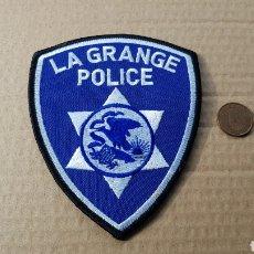 Militaria: PARCHE EMBLEMA ESCUDO DE LA POLICÍA LA GRANGE POLICE. Lote 182984412