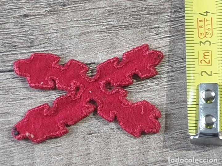 Militaria: Gran emblema de tela carlista guerra civil - Foto 5 - 182989536