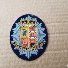 Militaria: PARCHE EMBLEMA ESCUDO POLICÍA MUNICIPAL EN EXCELENTE ESTADO. Lote 183199913
