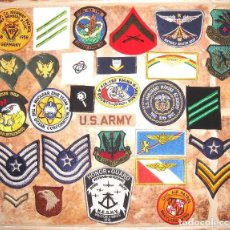 Militaria: LOTE DE 30 PARCHES MILITARES USA, ARMADA , EJERCITO, ETC. Lote 187225327