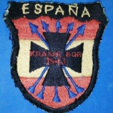 Militaria: DIVISION AZUL. PARCHE BORDADO. - KRASNI BOR 1943 - ENVIO INCLUIDO EN EL PRECIO.. Lote 187505943