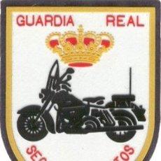 Militaria: PARCHE GUARDIA REAL SECCION DE MOTOS. Lote 294956283