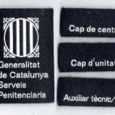 Militaria: PARCHES SERVICIOS DE PRISIONES DE CATALUÑA. Lote 213061305