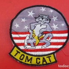 Militaria: EMBLEMA F-14 TOM CAT...ORIGINAL DE MONO DE VUELO, ARMADA NORTEAMERICANA. BORDADO... Lote 190749072