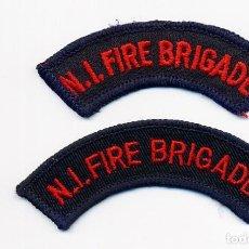 Militaria: NORTH IRELAND FIRE BRIGADE - PARCHE BOMBEROS IRLANDA DEL NORTE (JUEGO DE 2). Lote 191212790