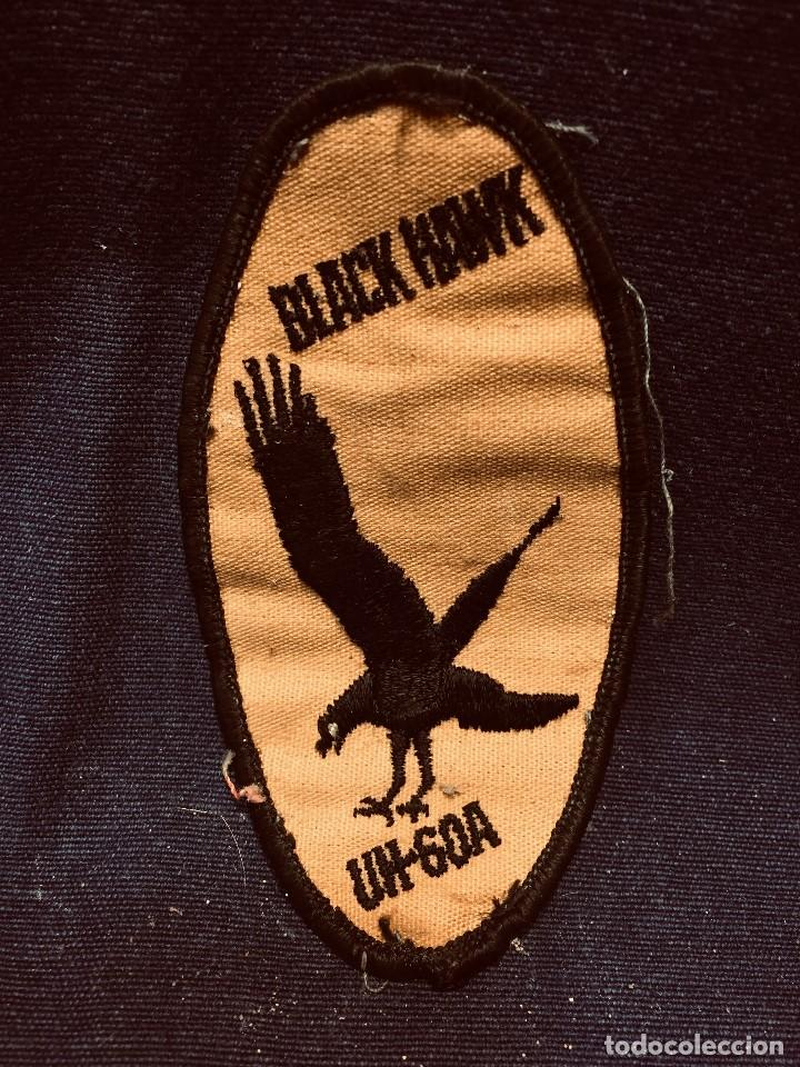 PARCHE DE TELA BLACK HAWK UH-60A HELICOPTERO AVIACION 10,5X5,5CMS (Militar - Parches de tela )