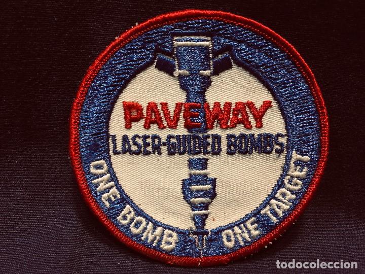 PARCHE DE TELA PAVEWAY LASER GUIDED BOMBS ONE BOMB ONE TARGET 10CMS (Militar - Parches de tela )