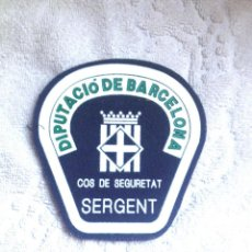 Militaria: PARCHE (SIN USAR) CUERPO SEGURIDAD DE LA DIPUTACIÓN DE BARCELONA (EXTINGUIDO): SARGENTO. Lote 192959095