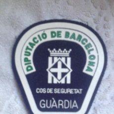 Militaria: PARCHE (SIN USAR) DEL EXTINGUIDO CUERPO DE SEGURIDAD DE LA DIPUTACIÓN DE BARCELONA: GUARDIA. Lote 192959326