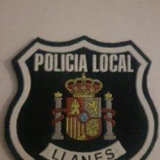 Militaria: PARCHE AÑOS 80 POLICIA LOCAL MUNICIPAL LLANES ASTURIAS. Lote 194240601