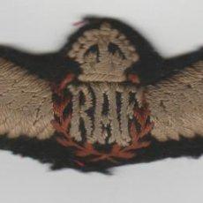 Militaria: ANTIGUO PARCHE DE PILOTO DE LA ROYAL AIR FORCE-RAF. Lote 194404717
