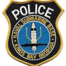 Militaria: PARCHE POLICIA NAVAL USA BASE DE SUBMARINOS. Lote 194691987