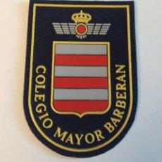 Militaria: PARCHE EMBLEMA DE BRAZO A COLOR DEL COLEGIO BARBERAN E. DEL AIRE. Lote 194734402