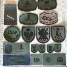 Militaria: LOTE 18 PARCHES MILITARES EJÉRCITO ESPAÑA. Lote 194779708