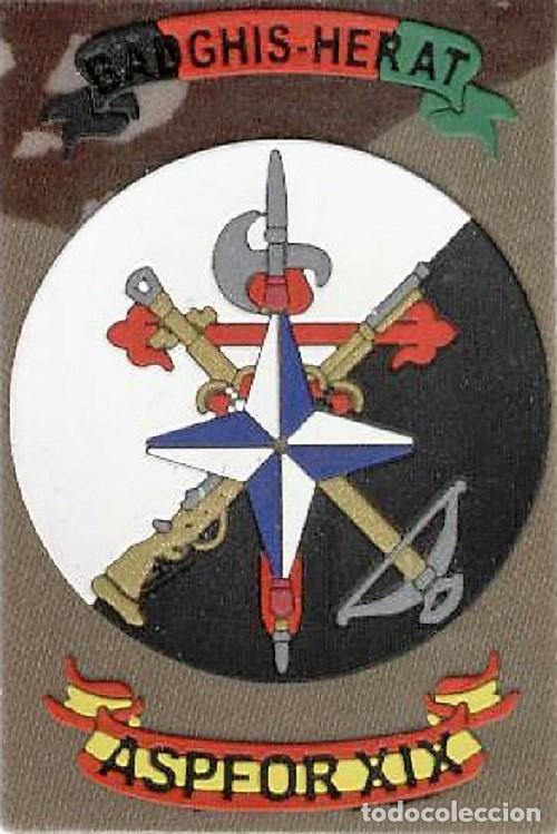 PARCHE MISION INTERNACIONAL ASPFOR XIX ISAF BADGHIS HERAT LEGION (Militar - Parches de tela )