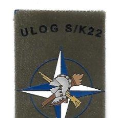 Militaria: PARCHE MISION INTERNACIONAL ULOG S/K22 KOSOVO. Lote 194914876