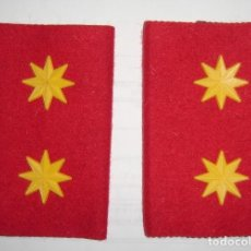Militaria: HOMBRERAS MANGUITOS EJERCITO DEL AIRE ROJAS TENIENTE CORONEL. Lote 194980676