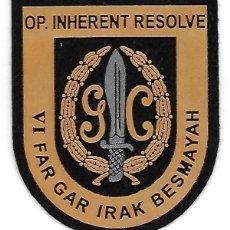 Militaria: PARCHE POLICIA VI FAR GAR IRAK BESMAYAH OPERACION INHERENT RESOLVE. Lote 289892143