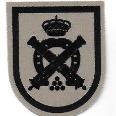 Militaria: PARCHE GUARDIA REAL GRUPO DE ESCOLTAS BATERÍA REAL ARIDO. Lote 195435932